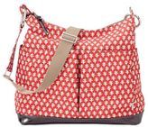 OiOi Mini Geo Hobo Diaper Bag in Poppy Red