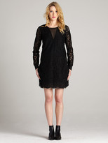 Gold Hawk English Lace Long Sleeve Dress