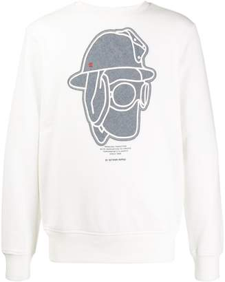 G Star Research printed crew neck sweater