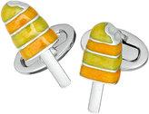 Jan Leslie Summer Popsicle Enameled Cuff Links, Orange