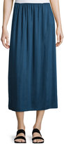 The Row Pleated Midi Skirt, Dark Sapphire