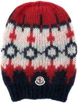 Moncler embroidered beanie hat
