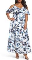 Eliza J Plus Size Women's Floral Print Maxi Dress
