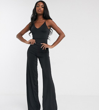 ASOS DESIGN Tall slinky jumpsuit with elastic straps