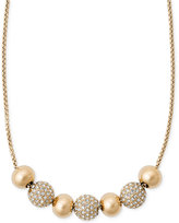 Michael Kors Pavé Crystal Beaded Slider Necklace
