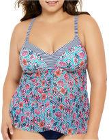 COSTA DEL SOL Costa Del Sol Tankini Swimsuit Top-Juniors Plus