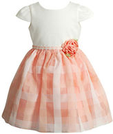 Sweet Heart Rose Sweetheart Rose Baby Girls Jacquard Fit-&-Flare Dress