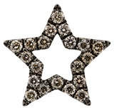 Rosa De La Cruz diamond encrusted star earring