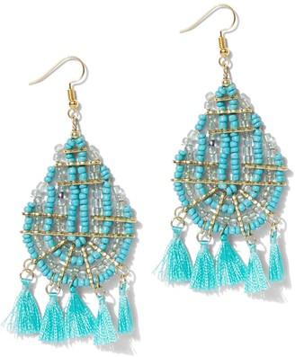 New York & Co. Beaded Tassel Drop Earring