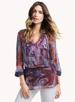 Ella Moss Celeste Marble Pleated Tunic