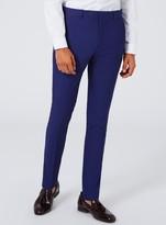 Topman Deep Blue Textured Super Skinny Fit Suit Trousers