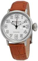 Heritor Olds Automatic White Engraved Dial Men's Watch