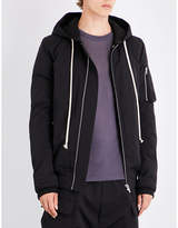 Rick Owens Hooded Cotton-blend Bomber Jacket