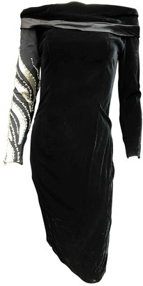Gianni Versace Black Velvet Dress for Women Vintage