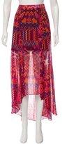 Mara Hoffman Silk High-Low Skirt