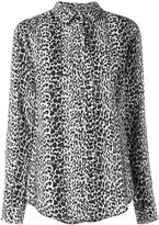 Saint Laurent classic petite leopard print shirt - women - Silk - 36