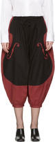 Undercover Red and Black Violon Trousers
