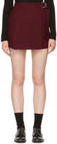 Carven Burgundy Belt Sash Shorts