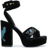 Ash Boom Butterfly embroidered platform sandals