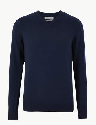 M&S CollectionMarks and Spencer Pure Extra Fine Lambswool V-Neck Jumper