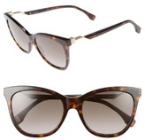 Fendi Women's Cube 55Mm Cat Eye Sunglasses - Black