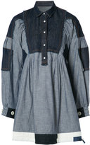 Sacai oversized shirt dress - women - Acetate/Cotton - 1