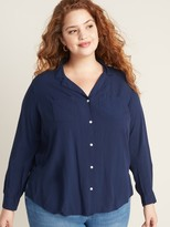 Old Navy Relaxed Plus-Size No-Peek Utility Shirt