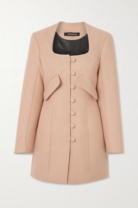 LADO BOKUCHAVA Cotton-drill Mini Dress - Beige