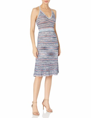 BCBGMAXAZRIA Azria Women's Jenn Zig Zag a-Line Knit Casual Dress