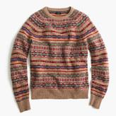 J.Crew Lambswool Fair Isle sweater in honey