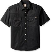 Dickies Men's Short-Sleeve Twill Western Shirt
