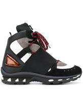 Givenchy colour block hi-top sneakers - men - Calf Leather/Polyester/Leather/rubber - 40