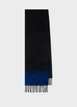 Paul Smith Men's Black Cashmere Scarf With Contrast Ends