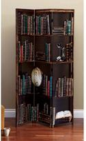 AZ Home and Gifts nexxt Bota 71 in. x 47.5 in. x 1 in. 3-Panel Multi Color Book Design Canvas Room Divider