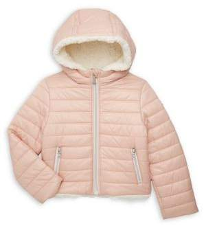 Michael Kors Little Girl's Quilted Hooded Coat
