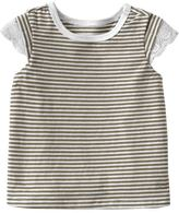 Patterned Lace Trim Tees for Baby