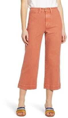 Madewell Slim Emmett Wide Leg Crop Pants (Regular & Plus Size)