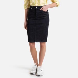 Benetton Buttoned Denim Skirt