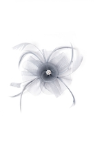 Quiz Grey Jewel Feather Fascinator