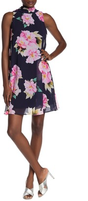 Robbie Bee Floral Print Bow Back Dress