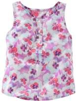 Osh Kosh Toddler Girl Floral Henley Tank