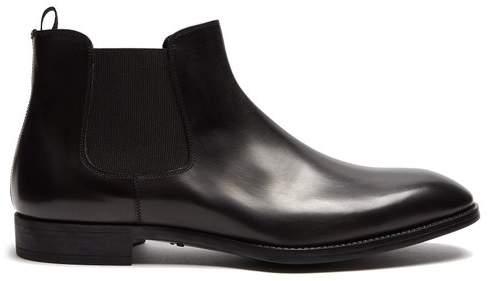 Giorgio Armani Leather chelsea boots