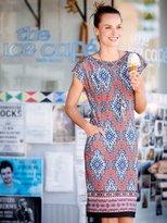 M&Co Tile print border tunic dress