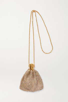 Versace Crystal-embellished Gold-tone Necklace