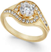 Charter Club Gold-Tone Crystal Ring, Created for Macy's