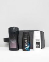 Lynx Black Toiletry bag Gift Set