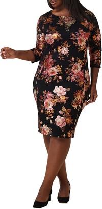 Marée Pour Toi Floral Lace Sheath Dress