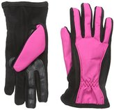 Isotoner Women's Matrix Nylon smarTouch Gloves with Piping