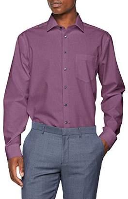 Seidensticker Men's Regular Fit Classic Long Sleeve Business Shirt - Purple - 17