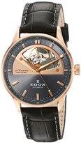 Edox Women's 85019 37RG GIR Les Vauberts Analog Display Swiss Automatic Grey Watch
